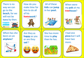 Sight Word Sentences (set 4)  Match Game-  Exit Ticket - Reading Center