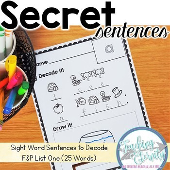 Sight Word Sentences to Decode