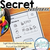 Sight Word Sentences to Decode - Fry First 100 Words