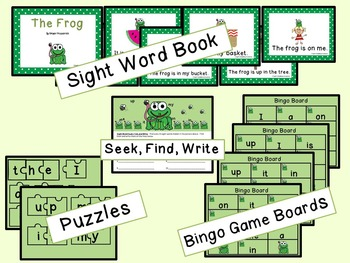 Sight Word Set #1 Frogs
