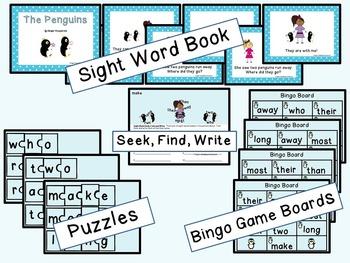 Sight Word Set #11 Penguins