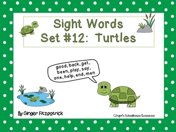 Sight Word Set #12 Turtles
