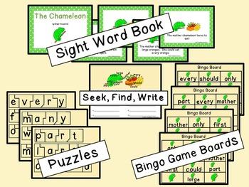Sight Word Set #18 Chameleons