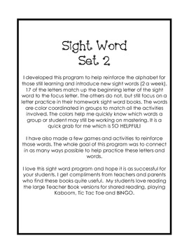 Sight Word Set 2