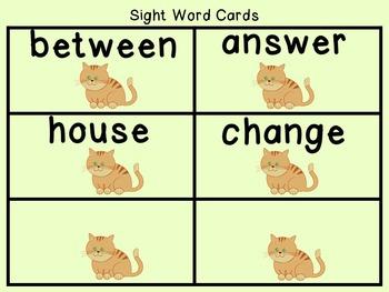 Sight Word Set #20 Cats