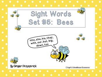 Sight Word Set #5 Bees