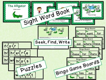 Sight Word Set #7 Alligators