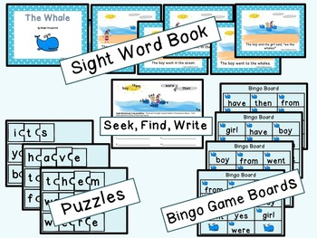 Sight Word Set #8 Whales
