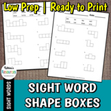 Sight Word Shapes Printable Practice Pages
