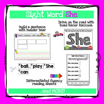 Sight Word She Activities