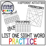 Sight Word Sheets (first 25 Fountas and Pinnell Words)