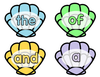 Sight Word Game - Shell Search