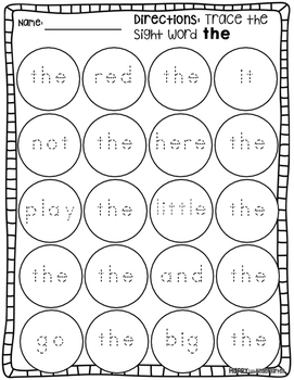 Sight Word Shenanigans - Sight Word the