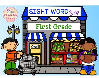 Sight Word Shop - Find & Color  (First Grade)