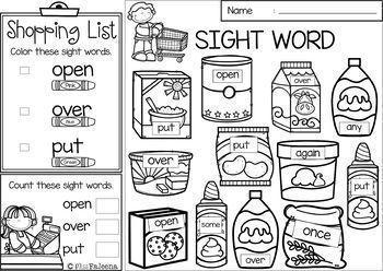 Sight Word Shop - Find & Color The Bundle