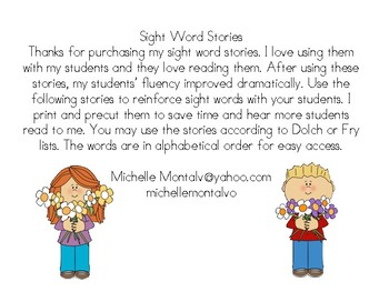 Sight Word Short Stories