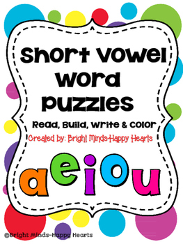 Sight Word  Puzzles - Read It, Build It, Write It, Color It