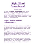 Sight Word Showdown!!