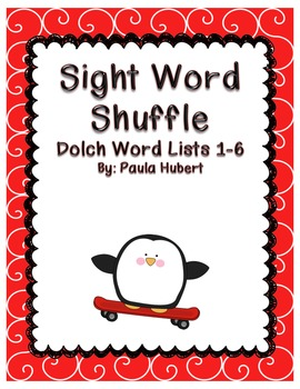 Sight Word Shuffle - Dolch Word Game (List 1-6)