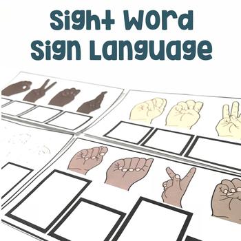 Sight Words Sign Language