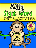 Sight Word Silly Poems & Activities *Kindergarten*
