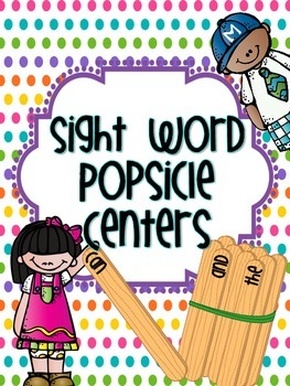 Sight Word Simple {Popsicle Sticks} Centers