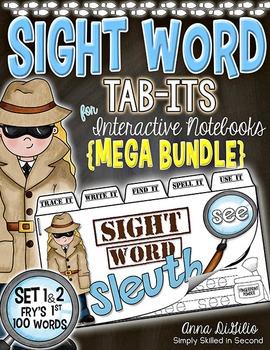Sight Word Sleuth Tab-Its™ BUNDLE