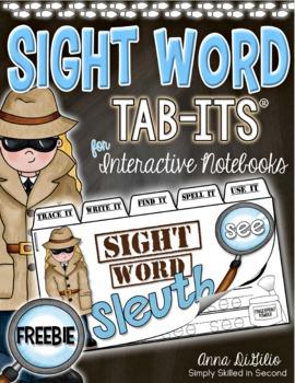 Sight Word Sleuth Tab-Its™ FREEBIE