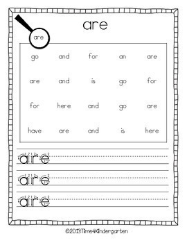Sight Word Sleuth for Kindergarten