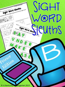 #taxespaid17 Sight Word Sleuths: Primer Edition