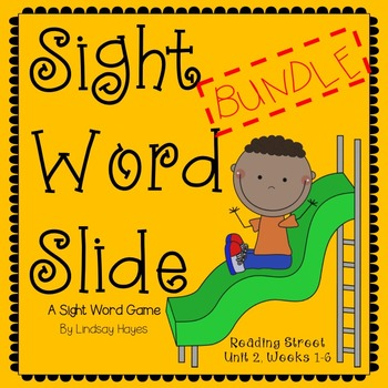 Sight Word Slide BUNDLE: Reading Street Unit 2, Weeks 1-6