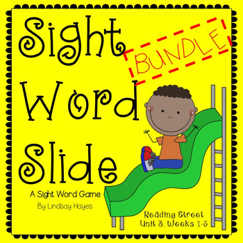 Sight Word Slide BUNDLE: Reading Street Unit 3, Weeks 1-6