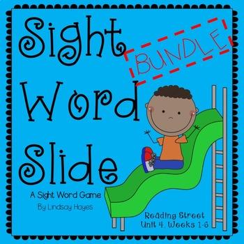 Sight Word Slide BUNDLE: Reading Street Unit 4, Weeks 1-6