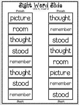 Sight Word Slide: Reading Street Unit 4.5