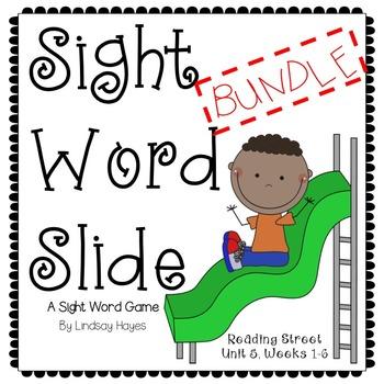 Sight Word Slide BUNDLE: Reading Street Unit 5, Weeks 1-6