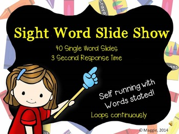 Sight Word Slide Show