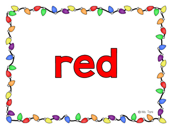 Sight Word Slide Show, Color and Number Words, Christmas