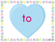Sight Word Slide Show, Fry's First 100, Words 1-50, Valentine's Day
