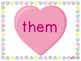 Sight Word Slide Show, Fry's First 100, Words 51-100, Valentine's Day