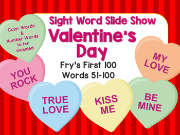 Sight Word Slide Show, Fry's First 100, Words 51-100, Vale