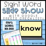 Sight Word Slide Show   Fry's Second List 101-200   Google