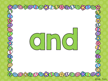 Sight Word Slide Show, Literacy First Kindergarten Words 1-50, Spring & Easter