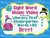 Sight Word Video & Slideshow, Literacy First Kindergarten