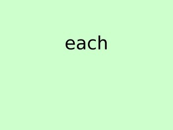Sight Word Slide Show Words 41-60