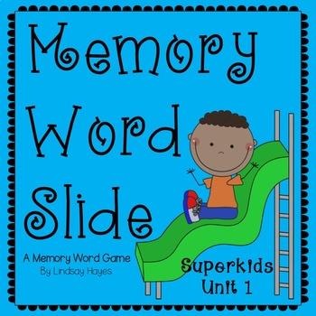 Superkids: Memory Word Slide, Unit 1