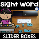 Sight Word Slider Boxes {FREE}