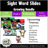 Sight Word Slides - Active Learning (Growing Bundle)