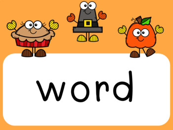 Sight Word Slides - Fall Buddies Theme (Editable)