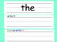 Sight Word Slides  (Part 1)