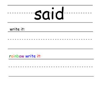 Sight Word Slides (Part 3)